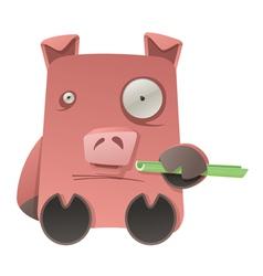strange pig vector image