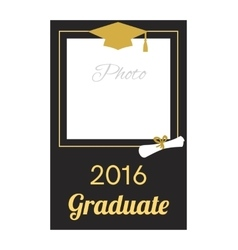 Student 2016 graduation photo frame vector
