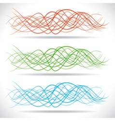 Abstract color strip wave vector