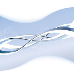 Abstract luxury background with wave vector image vector image