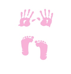 baby girl handprint footprint vector image