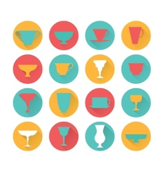 Caps icons set vector image