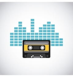 Cassette tape icon vector