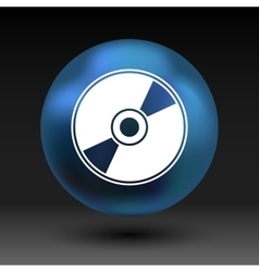 Cd or dvd icon disc compact disk vector