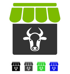 Cow farm flat icon vector