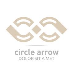 Design infinity element arch symbol icon vector