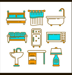 Different home furniture vector