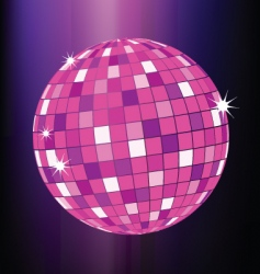 disco ball party poster template vector image
