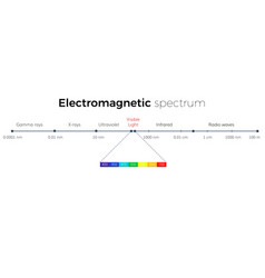 Electromagnetic spectrum scale vector