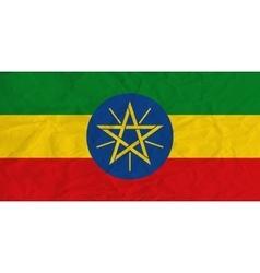 Ethiopia paper flag vector image vector image