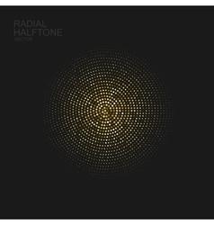Golden halftone pattern vector image vector image