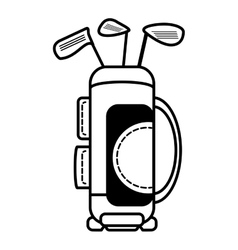 golf clubs equipment isolated icon vector image