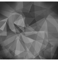 Gray light polygonal mosaic background vector