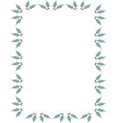 Holly border vector image vector image