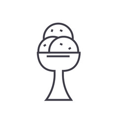 ice cream line icon sign o vector image