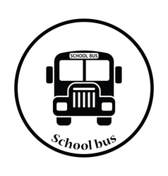 Icon of school bus vector