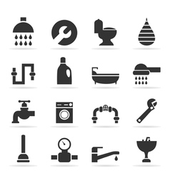 Icons sanitary technicians2 vector image vector image