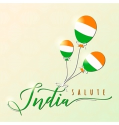 Indian felicitation theme vector image