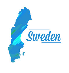 isolated swedish map vector image vector image