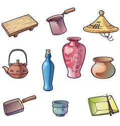 Japanese Traditional Kitchen Utensils vector image