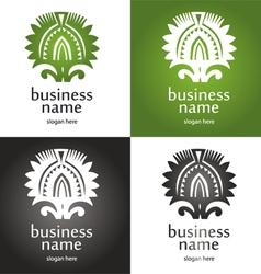 Logo rays vector