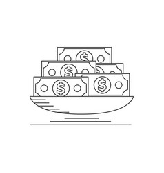 Lot of money vector