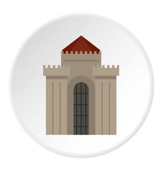 medieval building icon circle vector image