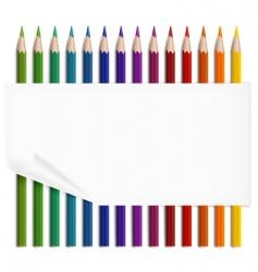paper amp pencils vector image vector image
