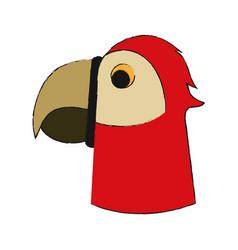 parrot head cartoon vector image
