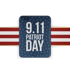 Patriot day festive paper banner vector