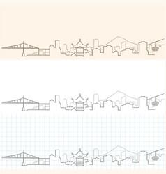 Portland hand drawn skyline vector