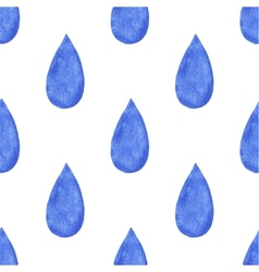 Seamless watercolor pattern with raindrops vector image vector image
