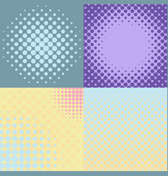 set of four abstract backgrounds vector image vector image