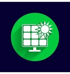 Solar energy panel icon sun power vector