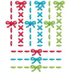 stitch set vector image