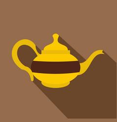 Teapot icon flat style vector
