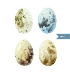 watercolor egg set Easter vector image