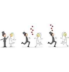 Cartoon wedding ceremony vector