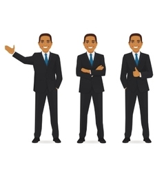 Set of business man vector