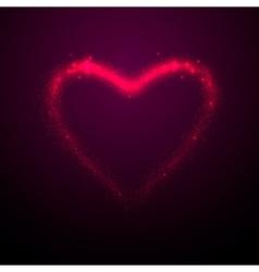 Shine glow pink heart vector