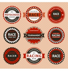 Racing insignia - vintage style vector image