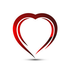 Icon red heart for saint valentines day vector