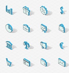 Light isometric flat design icon set vector