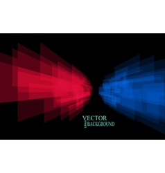 Stripes background perspective red and blue vector