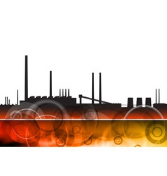 Pollution factory vector