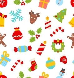 Seamless pattern with christmas traditional vector
