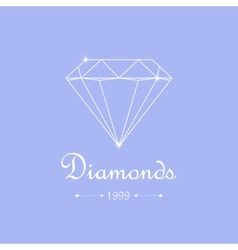 Diamond shopping emblem vector