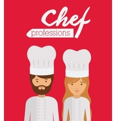 Chef profession design vector
