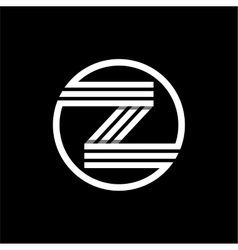 Z capital letter of three white stripes enclosed vector