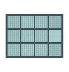 Panel solar isolated icon design vector